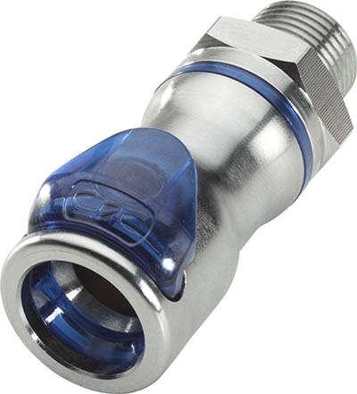Schlauchkupplung der speziell für Kältetechnik entwickelten LQ6-Serie von CPC
