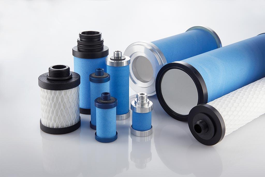 Verschiedene Polyglas® Filterelemente