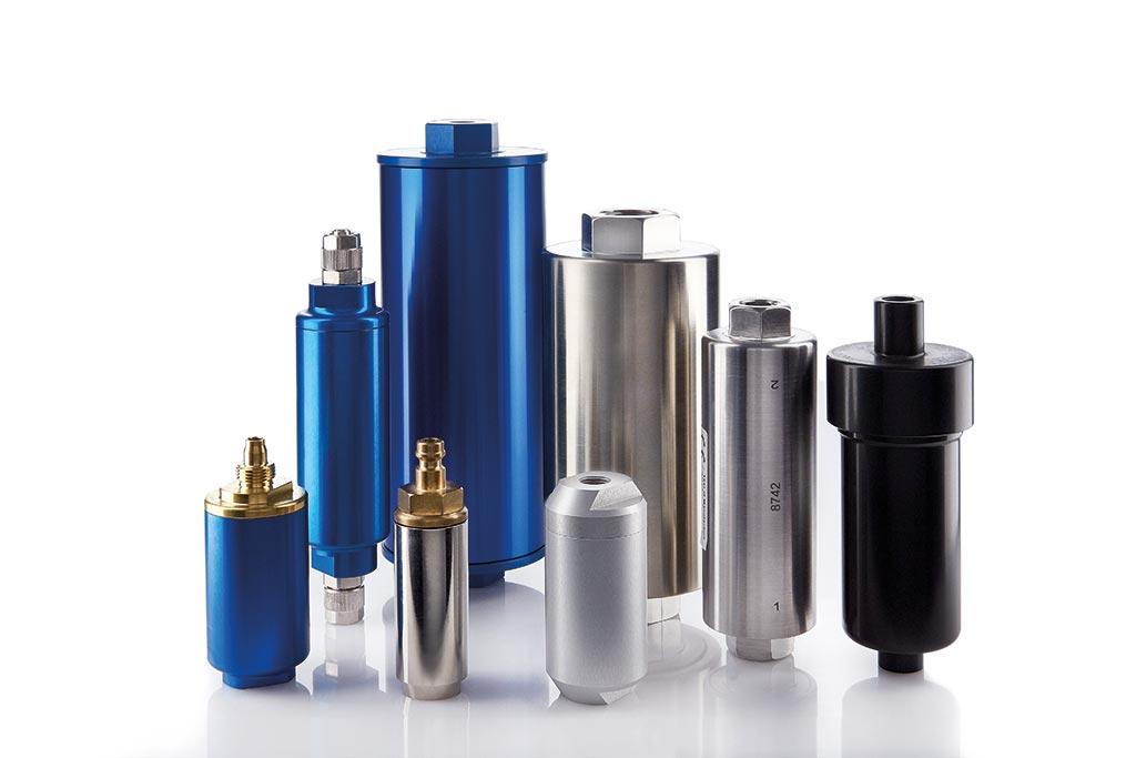 Inline-Filter aus Edelstahl und aus Aluminium