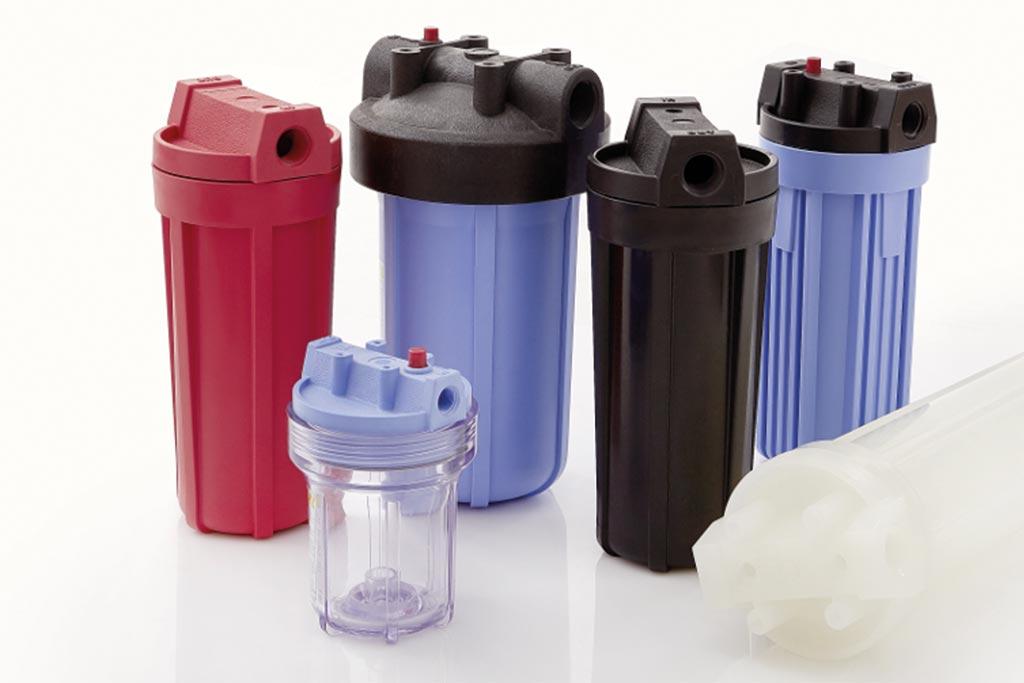 Unterschiedliche Kunststofffiltergehäuse von Causa, der Handelsmarke von Infiltec