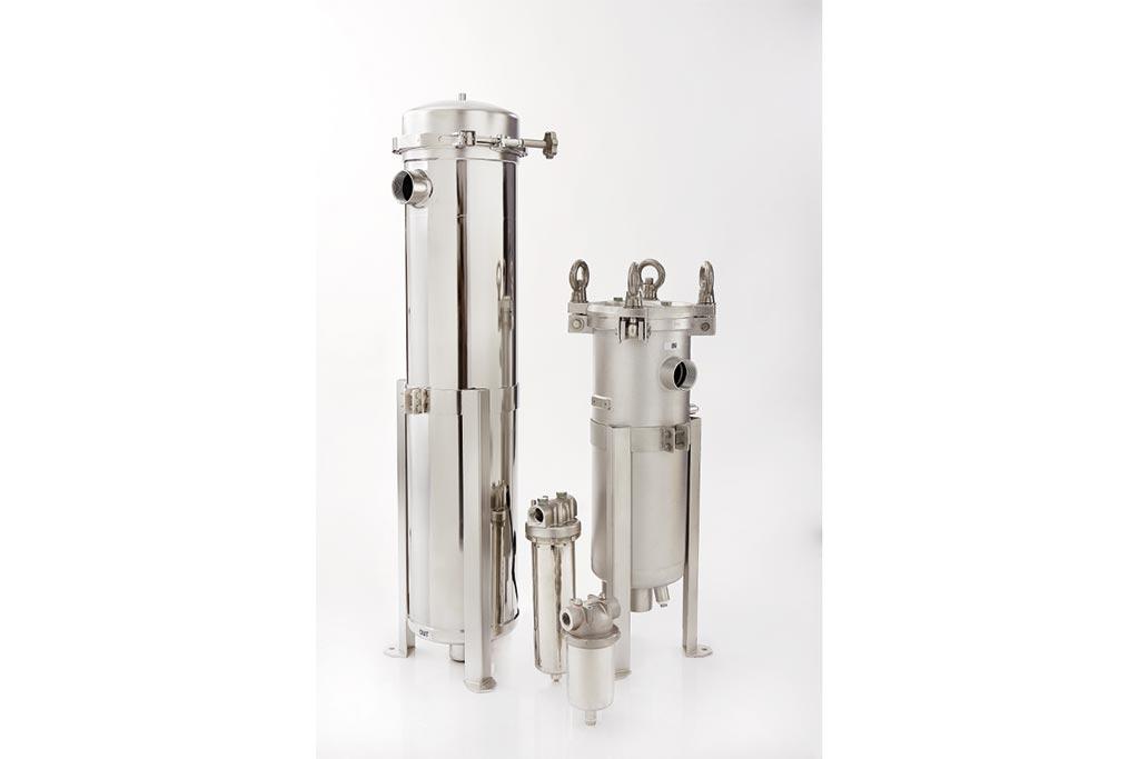 verschiedene Filtergehäuse für die Flüssigkeitsfiltration aus Edelstahl von Causa, der Handelsmarke von Infiltec