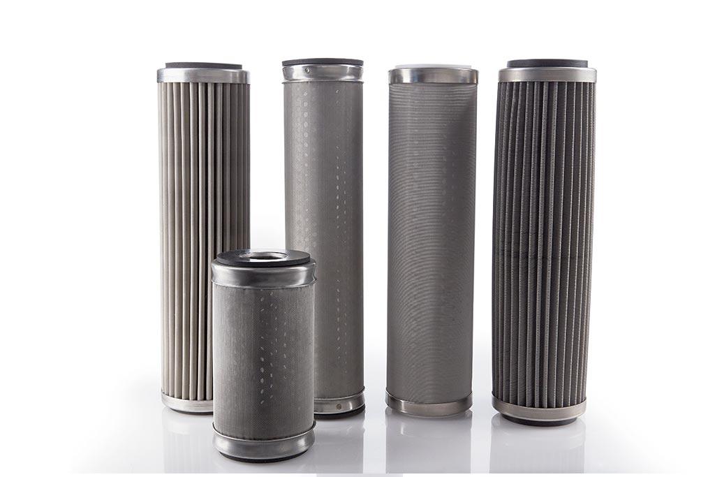 verschiedene Infiltec Filtereinsätze aus Edelstahl von Causa, der Handelsmarke von Infiltec