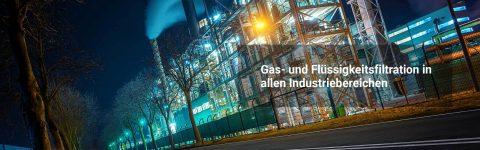 Filtergehäuse und Filterelemente für die Gasfiltratioin und Flüssigkeitsfiltration in allen Industriebereichen